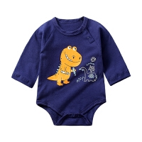 婴儿包屁衣长袖宝宝三角哈衣新生儿连体衣春装