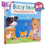 【中商原版】小熊很忙系列 有趣的农场 英文原版 Bizzy Bear: Farmyard Fun 纸板书 3-6岁