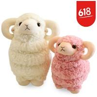 萌可爱仿真小绵羊公仔小羊玩偶羊驼毛绒玩具睡觉抱的娃娃女孩