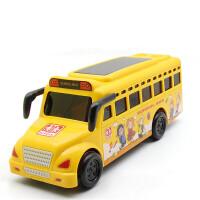 儿童惯性车灯光音乐校车警车回力玩具汽车巴士玩具小汽车