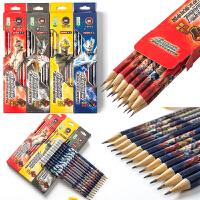 小学生铅笔2hb儿童幼儿园素描考试银河奥特曼男孩卡通橡皮头