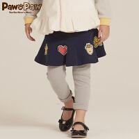 【2件2.5折 到手价:125元】Pawinpaw宝英宝卡通小熊童装冬季款女童打底裙裤