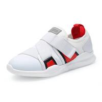 巴布豆童鞋 男童鞋2018春季新款透气跑步鞋学生小白鞋儿童运动鞋