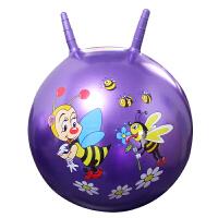 儿童户外运动玩具手柄球18寸儿童卡通羊角球跳跳球加厚充气球