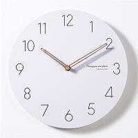 数字钟表墙上挂钟客厅个性创意极简装饰时钟简约静音北欧壁挂 12英寸