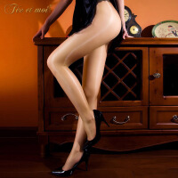 【久朝货到付款】T裆无痕裸氨油光袜舍宾油亮闪光袜情趣内衣丝袜隐形透明7320/7321