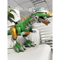 儿童大号喷火电动恐龙玩具仿真动物走路霸王龙智能机器人男孩玩具