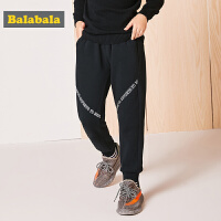 巴拉巴拉男童长裤儿童裤子中大童秋冬2017新款童装加绒休闲运动裤