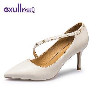 依思Q时尚优雅绕脚高跟女单鞋