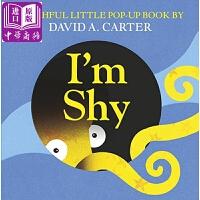 【中商原版】一只害羞的动物 I'm Shy (Pop Up Book) 精装 立体玩具书 3-6岁