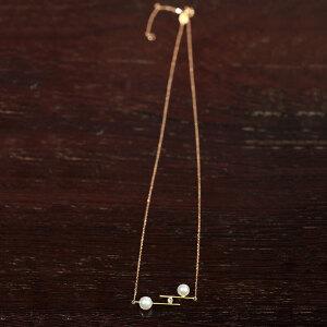 18k金镶钻日本Akoya珍珠链坠