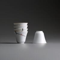 大号白瓷茶杯陶瓷茶具单杯