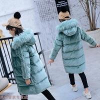 冬季2018新款冬季新款韩版儿童金丝绒羽绒服女童中长款加厚冬装外套秋冬新款