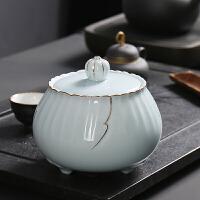 陶瓷茶叶罐密封储物罐子大号半斤防潮茶罐红茶绿茶普洱存储罐