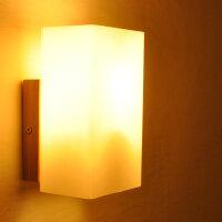 幽咸家居实木壁灯过道阳台北欧原木风格卧室床头简约YX-LMD-2125