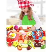 仿真水果蔬菜玩具套装婴儿 儿童切水果神器玩具木制全套磁性小宝宝