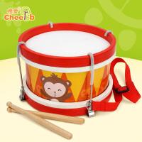 橙爱猴子敲击鼓儿童打击乐器手鼓木质早教益智音乐玩具