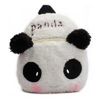 可爱男宝宝婴幼儿童书包1-3岁女孩双肩背包幼儿园潮2 白色 熊猫