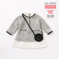 戴维贝拉女童秋冬装新款连衣裙 宝宝公主裙子DB8413