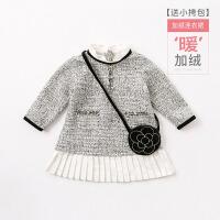 davebella戴维贝拉女童秋冬装新款连衣裙 宝宝公主裙子DB8413