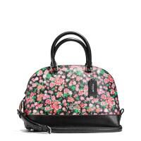 【当当自营】蔻驰(COACH)新款女士花卉打印涂层帆布小号贝壳包手提斜挎女包  F57621