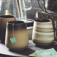 汉馨堂 马克杯 杯子陶瓷带盖创意家用早餐下午茶杯磨砂挂耳咖啡杯情侣马克杯个性