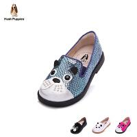 暇步士童鞋2017年新款女童皮鞋巴吉度猎犬系单鞋小童休闲鞋 DP9095