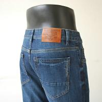 秋装新款牛仔裤直筒商务休闲男士猫须简约蓝色牛仔长裤子男裤