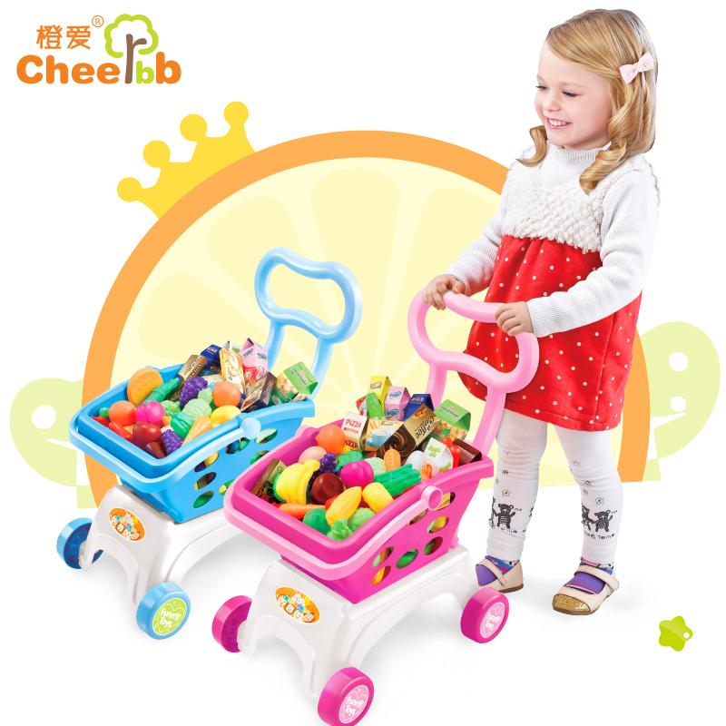 橙爱趣味多超市购物车儿童仿真过家家套装手推车男女孩益智玩具益智玩具限时钜惠