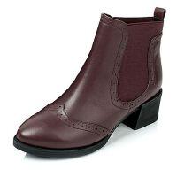 Tata/他她小牛皮女短靴2Q952CD6