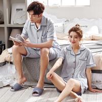 2套价 情侣睡衣夏季短袖纯棉男女夏天韩版可爱全棉薄款家居服套装