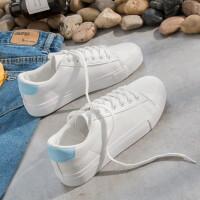 夏秋季小白鞋女鞋2017新款韩版平底学生帆布鞋休闲板鞋白鞋子
