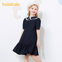 【券后预估价:125.9】巴拉巴拉儿童裙子女童公主裙2021新款夏装大童连衣裙韩版学院风女