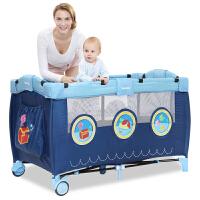 bb宝宝床可折叠婴儿床欧式便携式折叠床游戏床