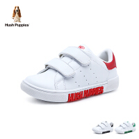 暇步士Hush Puppies童鞋男女童小白鞋儿童运动鞋撞色潮流学生板鞋休闲鞋(5-15岁可选)DP9429