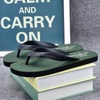 夏季新款韩版潮流学生人字拖男士防滑夹脚橡胶户外休闲沙滩凉拖鞋