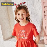巴拉巴拉童装女童连衣裙小童宝宝裙子儿童公主裙夏装新款甜美