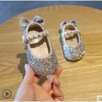 户外宝宝软底婴儿学步鞋子小皮鞋儿童一岁女宝宝公主鞋小童鞋夏女童