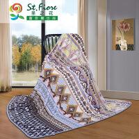 富安娜出品 圣之花保暖多功能毛毯 午睡毯沙发盖毯180*200cm