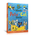顺丰发货 英文原版绘本 pete the cat 5- minute pete the cat stories 精装大