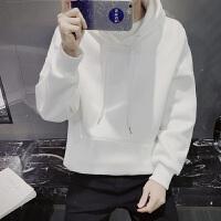 慈姑连帽卫衣男套头带帽韩版潮学生纯色运动外套秋季男士帽衫男装 XL 120-135斤