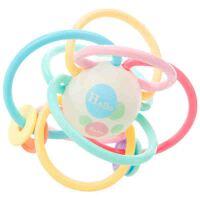 磨牙棒摇铃牙胶早教婴儿玩具 手抓球0-3-6-12个月宝宝