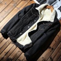 加绒加厚牛仔外套男2018冬季新款棉衣羊羔毛韩版男装宽松牛仔夹克