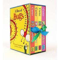 【现货】英文原版 A Box of Bugs  小虫子概念早教立体书4册套装:学颜色、数数、方位词、反义词    初级启蒙