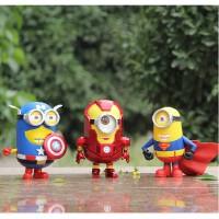 好运连 iron man美国队长盾牌超人版钢铁侠手办公仔玩具