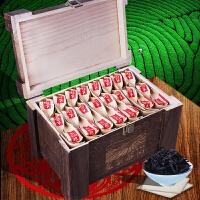 武夷乌龙茶岩韵大红袍浓香型肉桂茶叶木质礼盒装