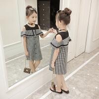 女童夏季连衣裙2018夏装新款韩版儿童吊带裙子洋气女孩公主裙子潮