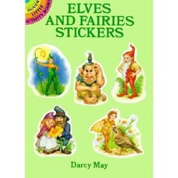 【预订】Elves and Fairies Stickers: 24 Pressure-Sensitive 美国库房发货,通常付款后3-5周到货!