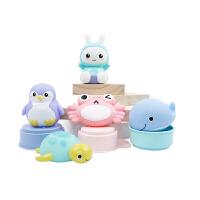 宝宝戏水玩具儿童喷水小乌龟套装室内男女孩婴儿洗澡玩具男女孩戏水玩具喷水软胶套装玩具1-3岁宝宝洗澡玩具