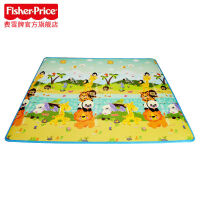 费雪宝宝爬行垫婴儿游戏垫双面厚地毯BMF20 环保可折叠客厅家用儿童节礼物 BMF20 150CM*200CM*1CM